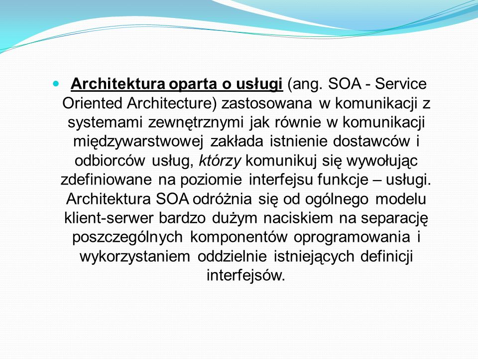 Architektura oparta o usługi (ang