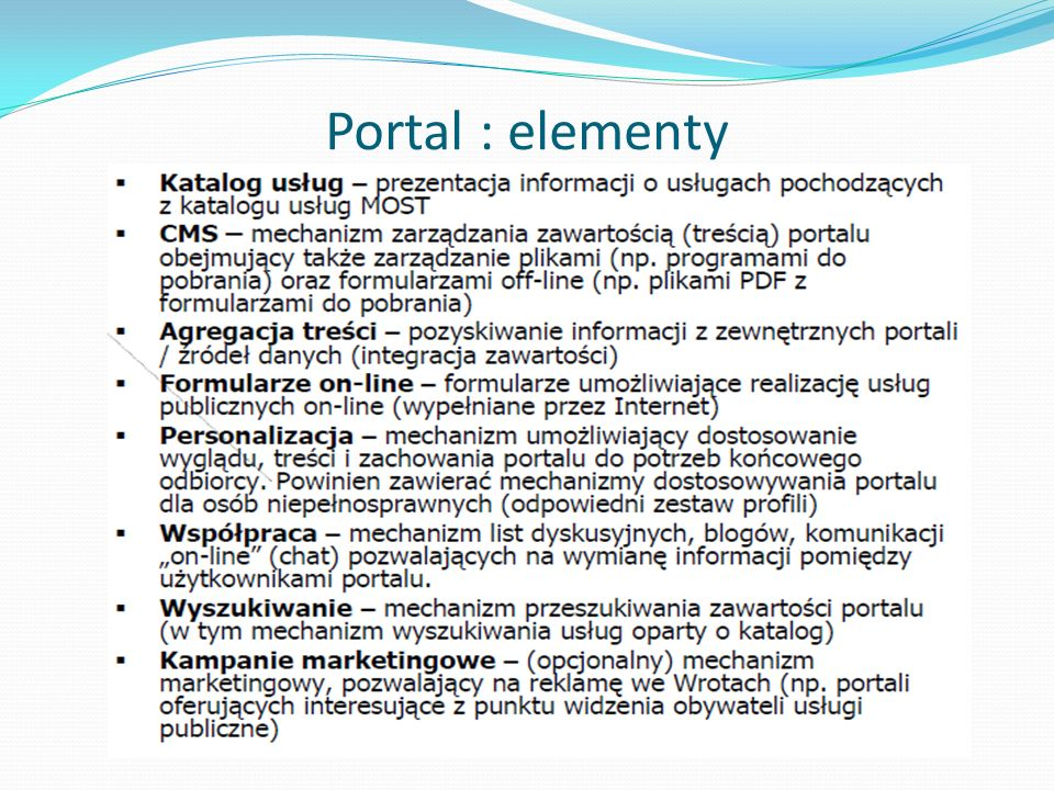 Portal : elementy