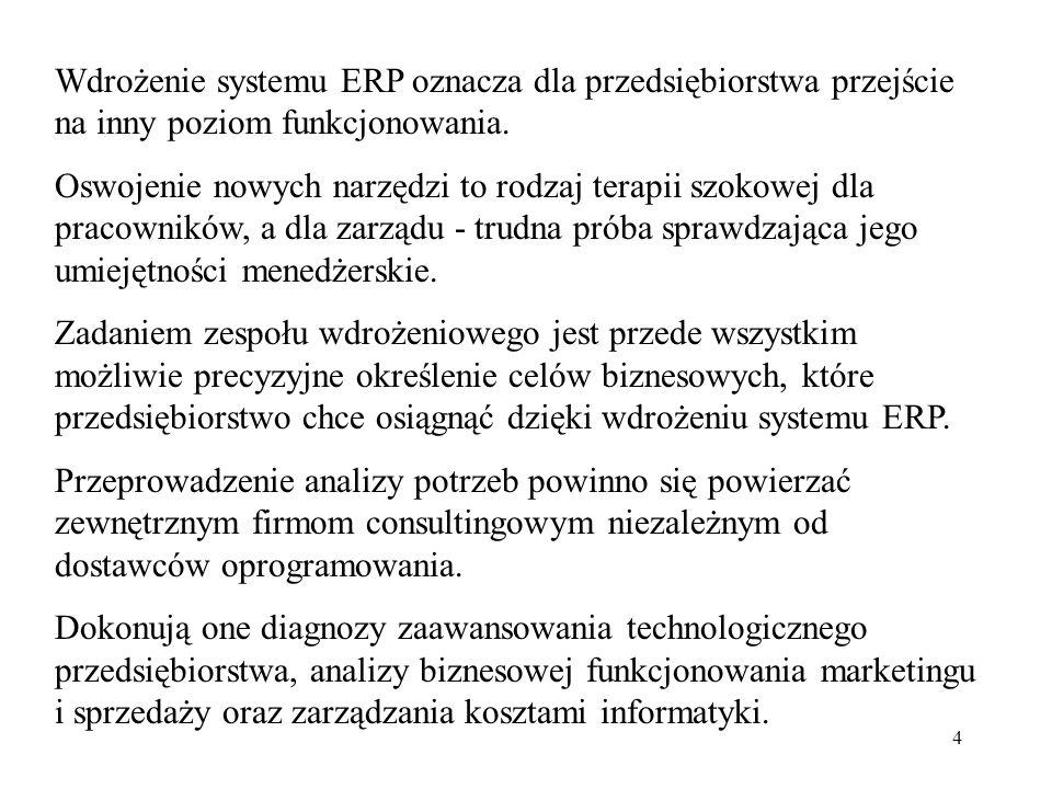 Wdrożenie systemu ERP oznacza dla przedsiębiorstwa przejście na inny poziom funkcjonowania.