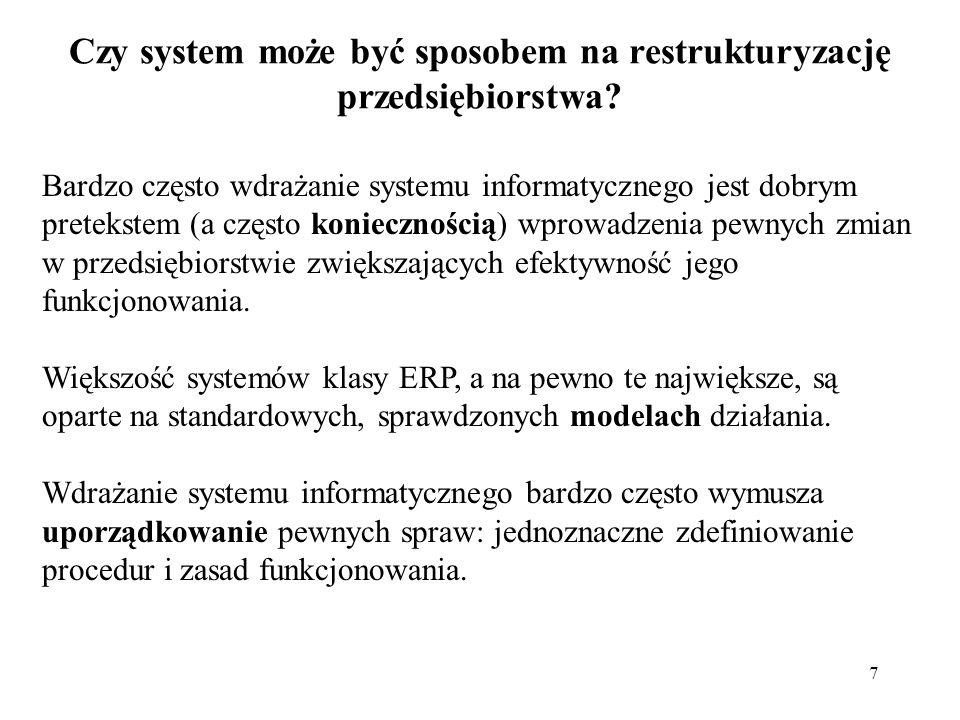 Czy system może być sposobem na restrukturyzację przedsiębiorstwa