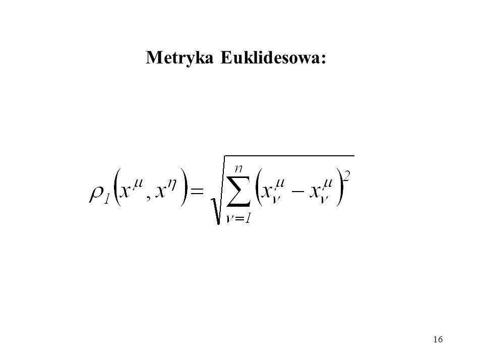 Metryka Euklidesowa: