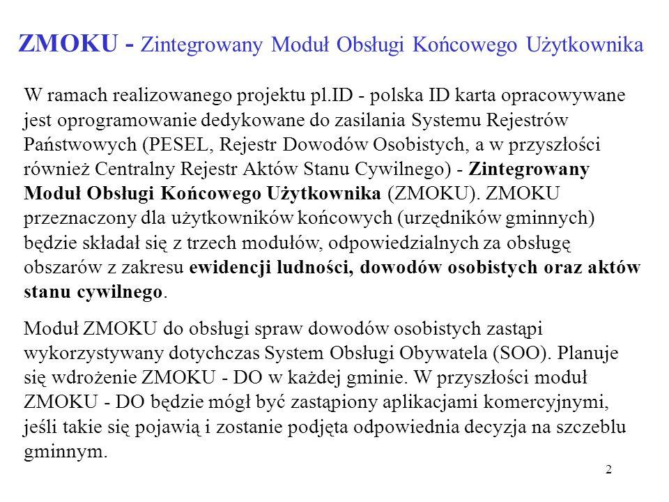 ZMOKU - Zintegrowany Moduł Obsługi Końcowego Użytkownika