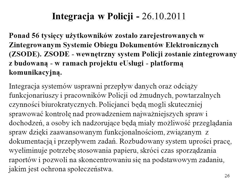 Integracja w Policji - 26.10.2011
