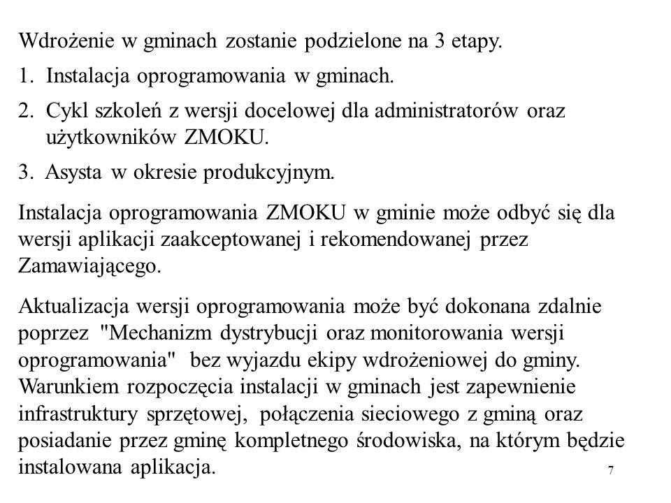 Wdrożenie w gminach zostanie podzielone na 3 etapy.