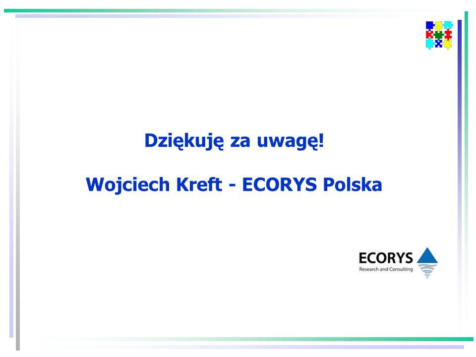 Dziękuję za uwagę! Wojciech Kreft - ECORYS Polska