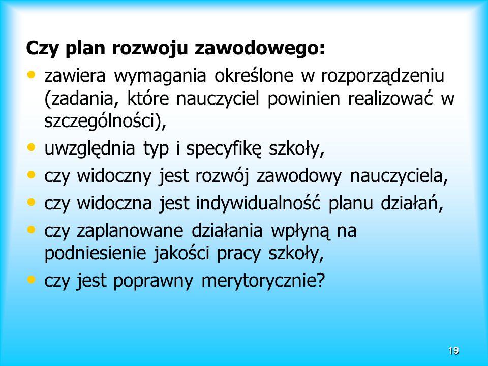 Czy plan rozwoju zawodowego: