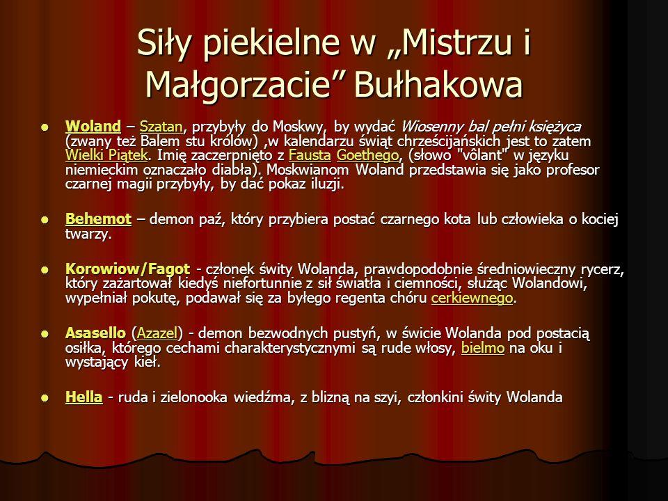 """Siły piekielne w """"Mistrzu i Małgorzacie Bułhakowa"""