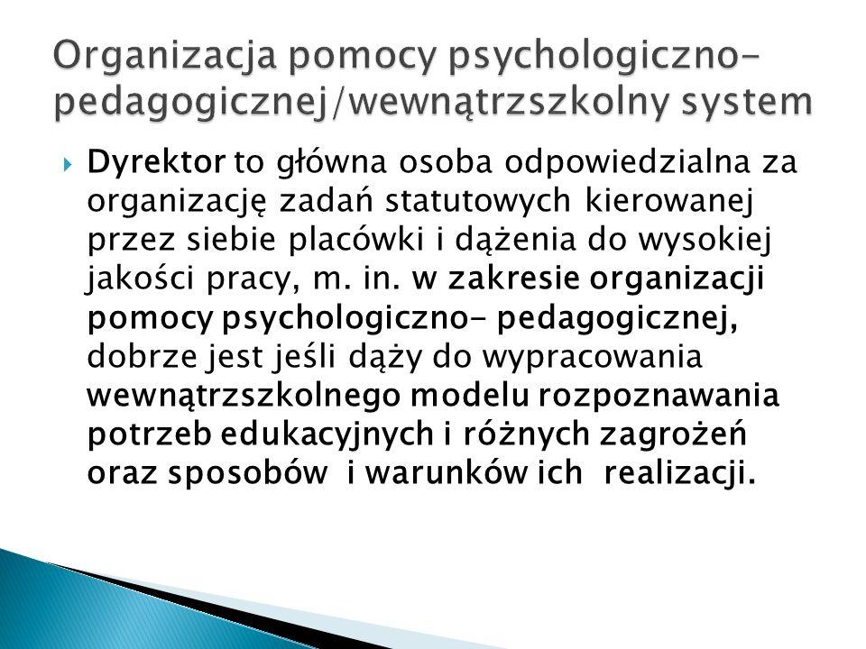 Organizacja pomocy psychologiczno- pedagogicznej/wewnątrzszkolny system