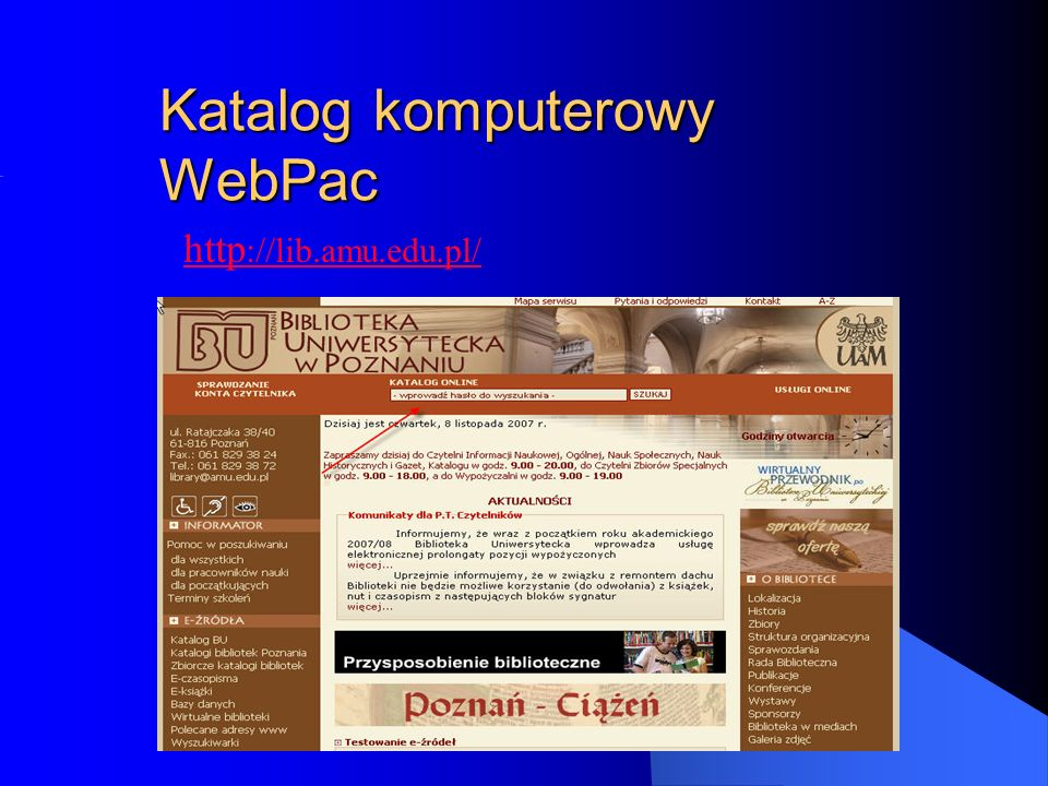 Katalog komputerowy WebPac