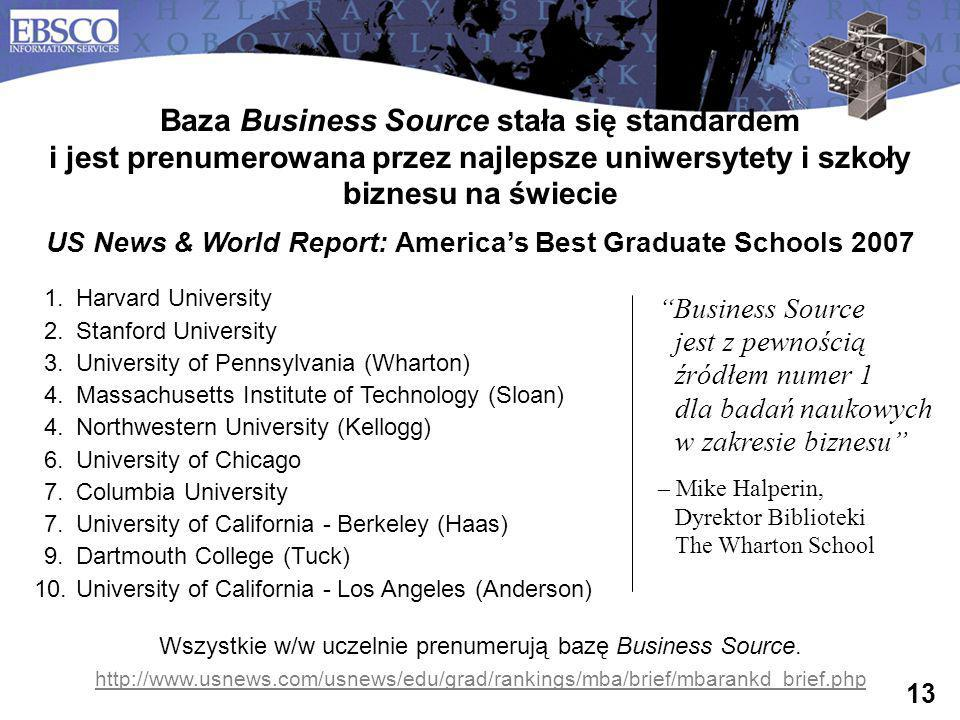 US News & World Report: America's Best Graduate Schools 2007