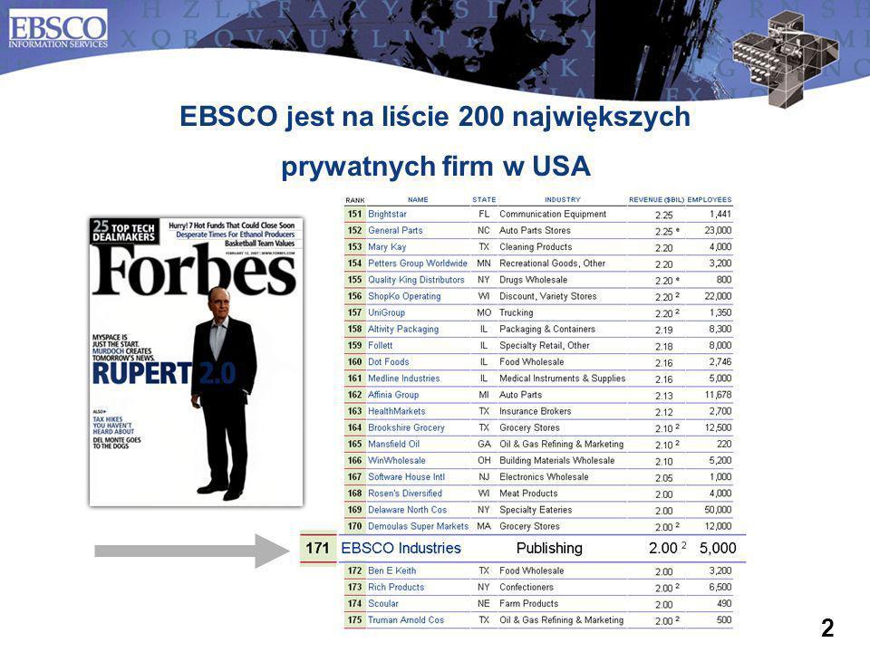EBSCO jest na liście 200 największych