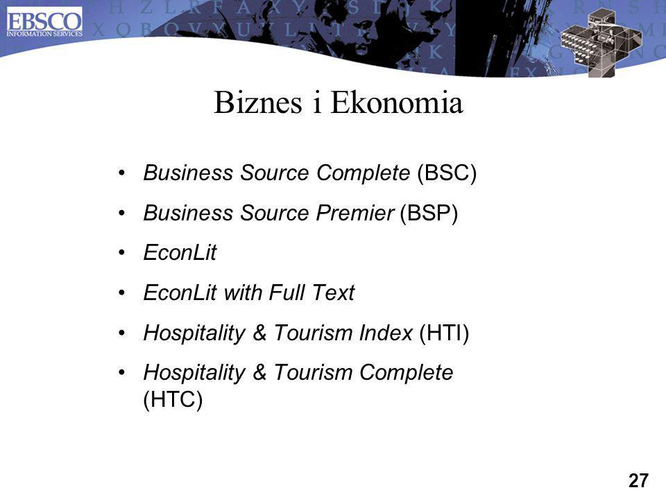 Biznes i Ekonomia Business Source Complete (BSC)