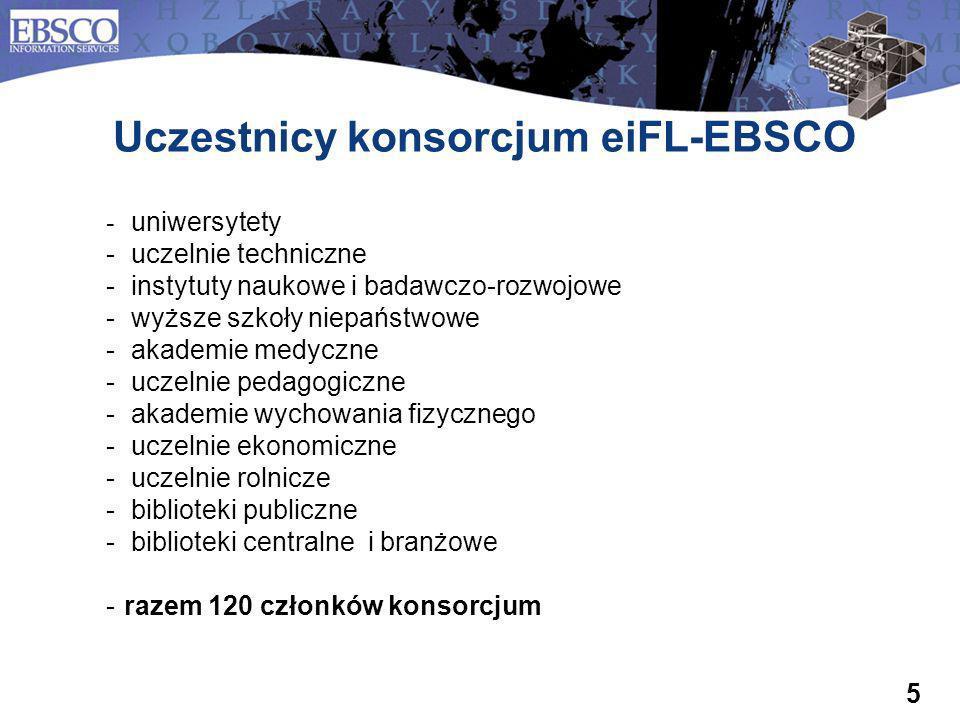 Uczestnicy konsorcjum eiFL-EBSCO