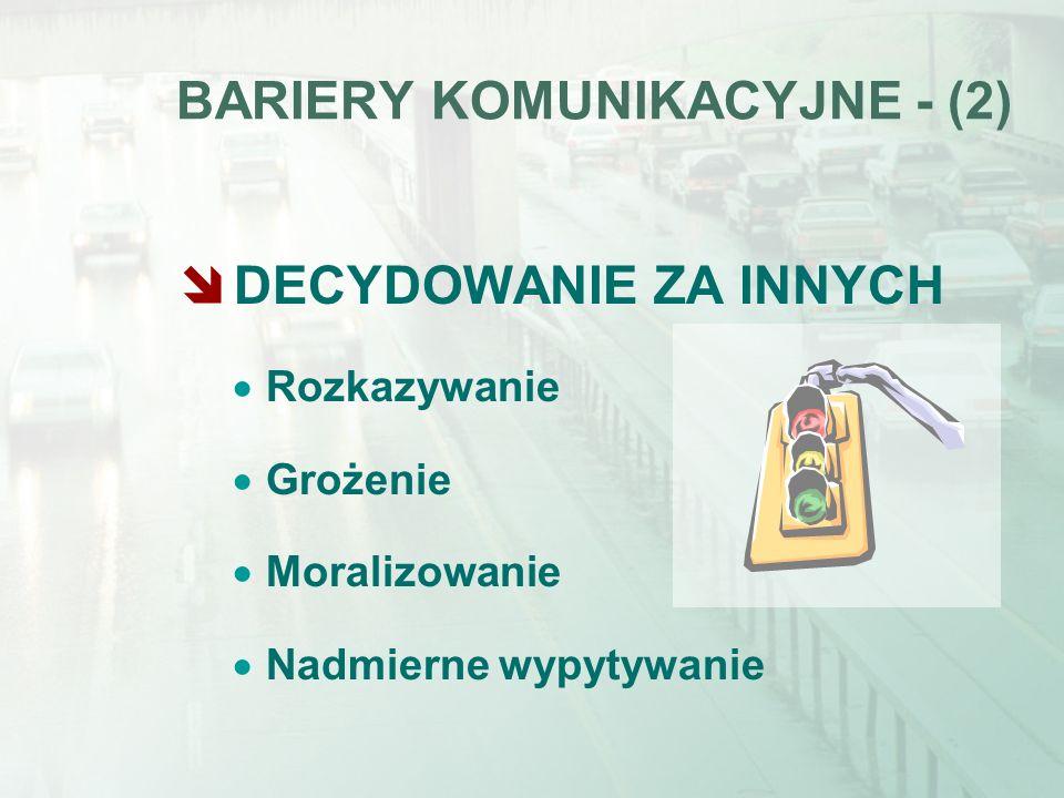 BARIERY KOMUNIKACYJNE - (2)