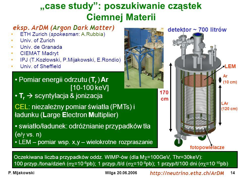 """""""case study : poszukiwanie cząstek Ciemnej Materii"""