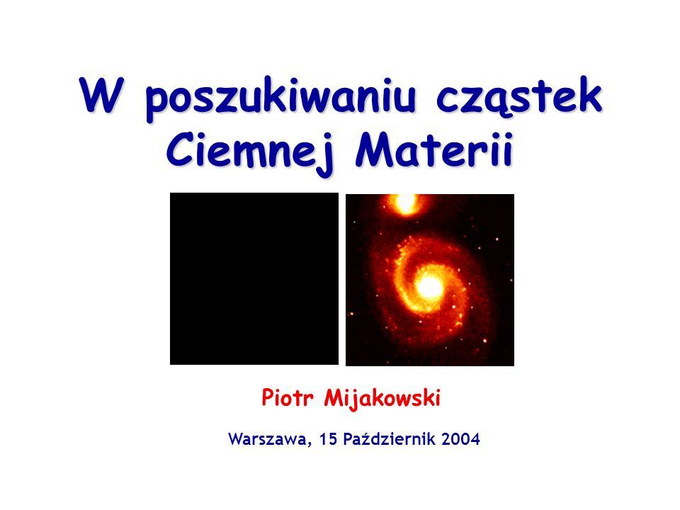 W poszukiwaniu cząstek Ciemnej Materii