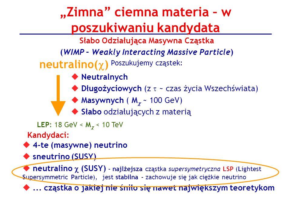 """Zimna ciemna materia – w poszukiwaniu kandydata"