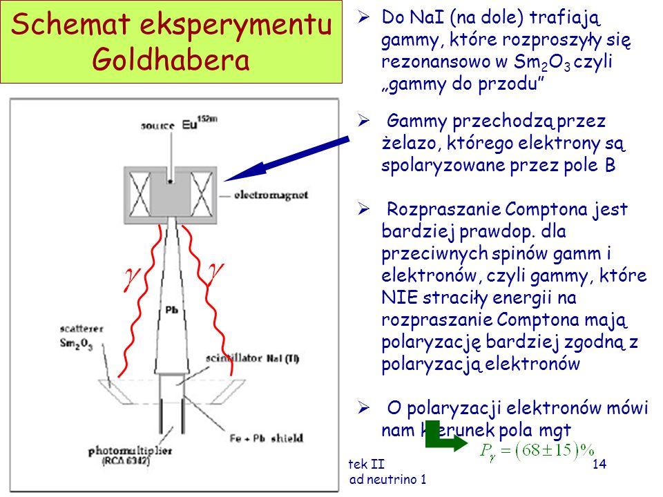 Schemat eksperymentu Goldhabera