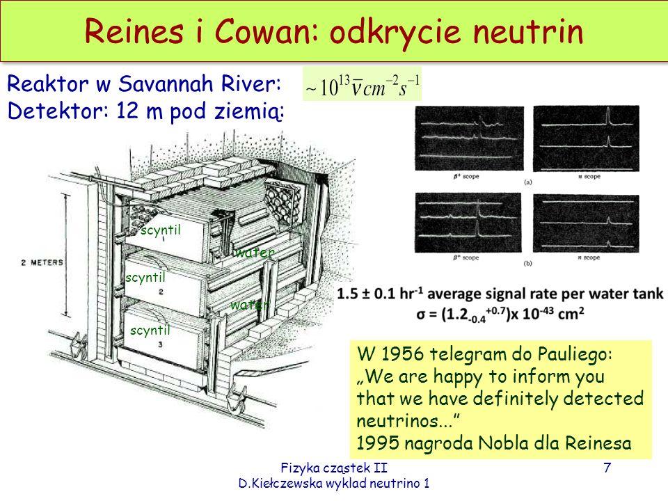 Reines i Cowan: odkrycie neutrin