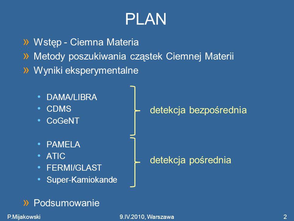 PLAN Wstęp - Ciemna Materia