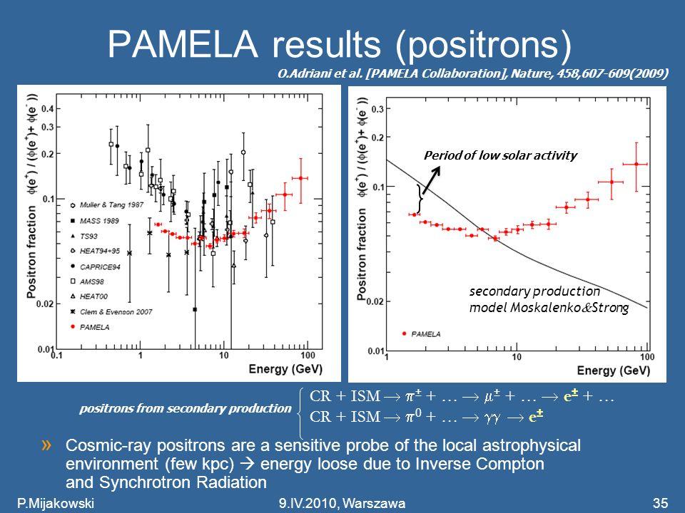 PAMELA results (positrons)