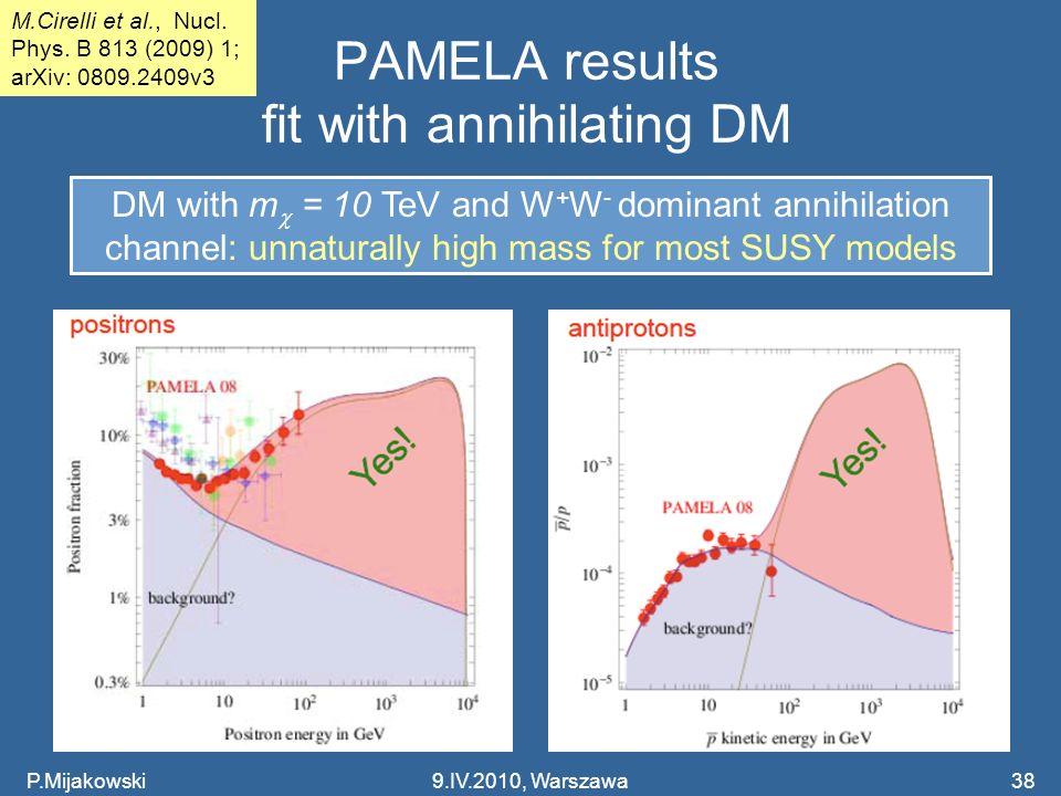 PAMELA results fit with annihilating DM