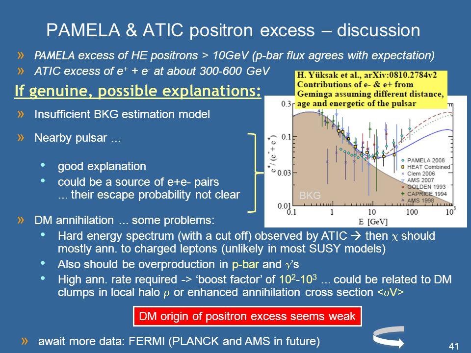 PAMELA & ATIC positron excess – discussion