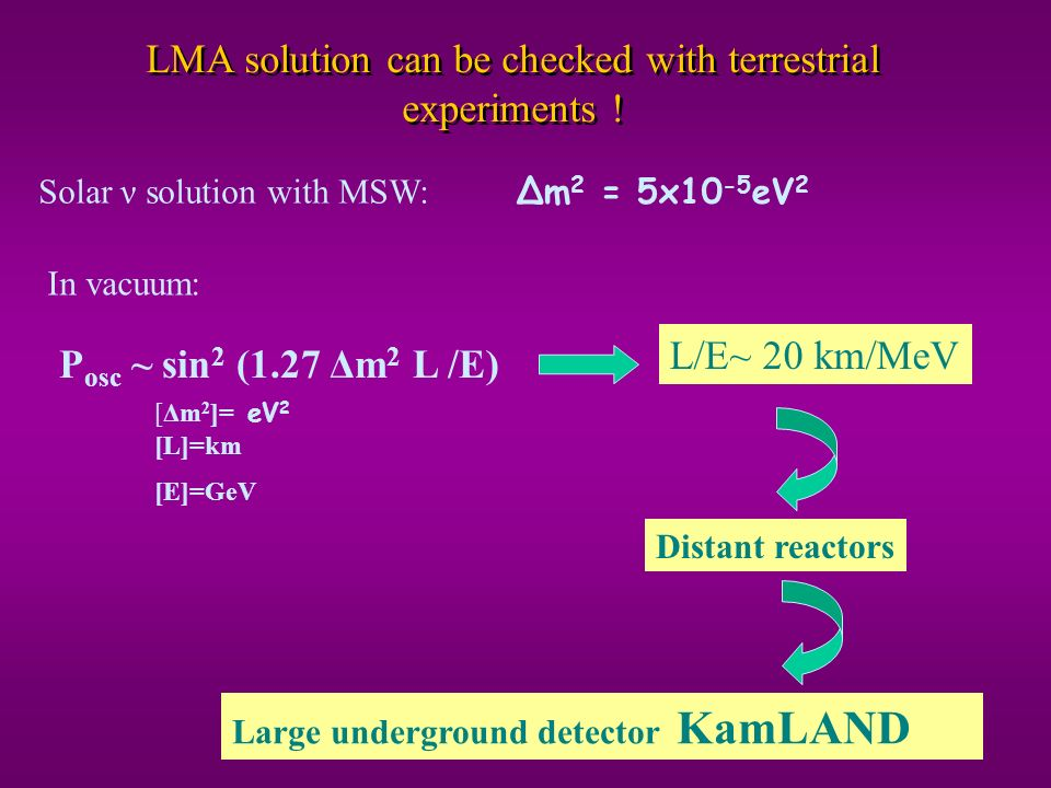 LMA solution can be checked with terrestrial experiments !
