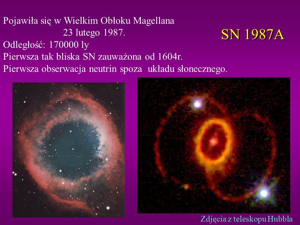 SN 1987A Pojawiła się w Wielkim Obłoku Magellana 23 lutego 1987.