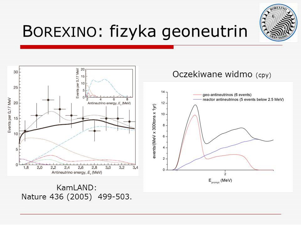 BOREXINO: fizyka geoneutrin