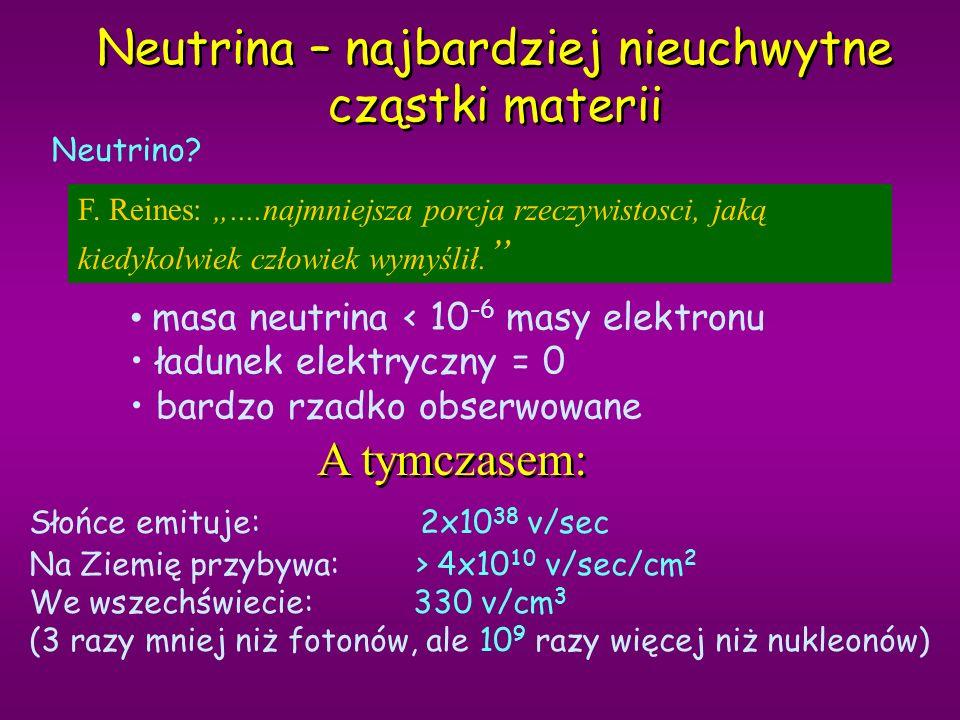 Neutrina – najbardziej nieuchwytne cząstki materii