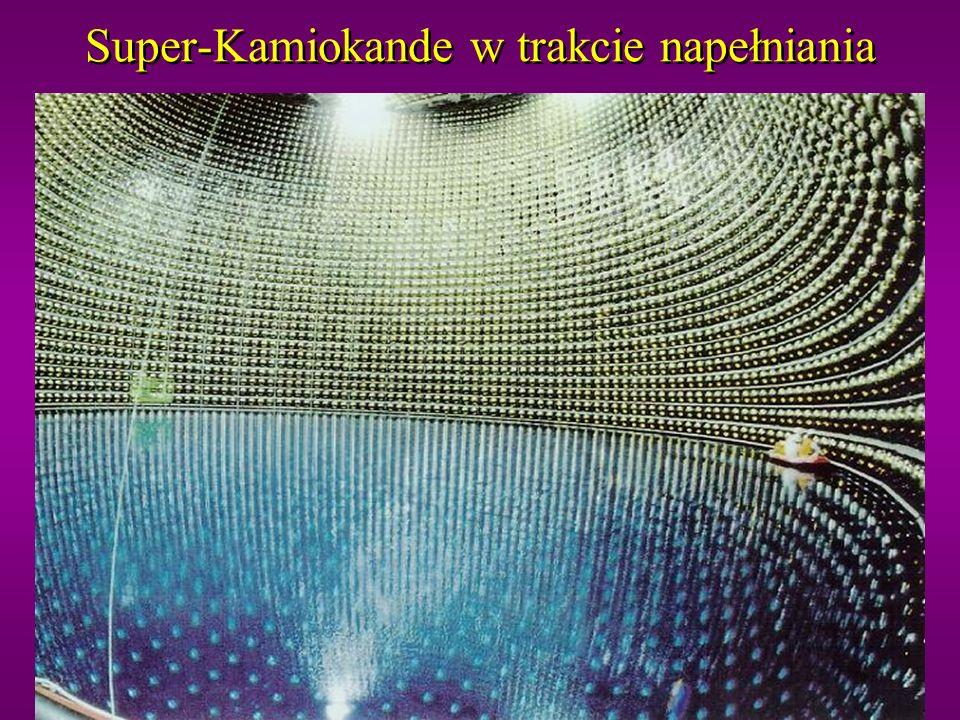 Super-Kamiokande w trakcie napełniania