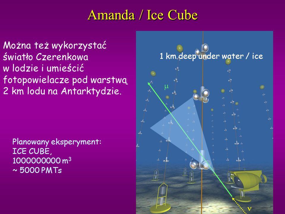 Amanda / Ice Cube Można też wykorzystać światło Czerenkowa