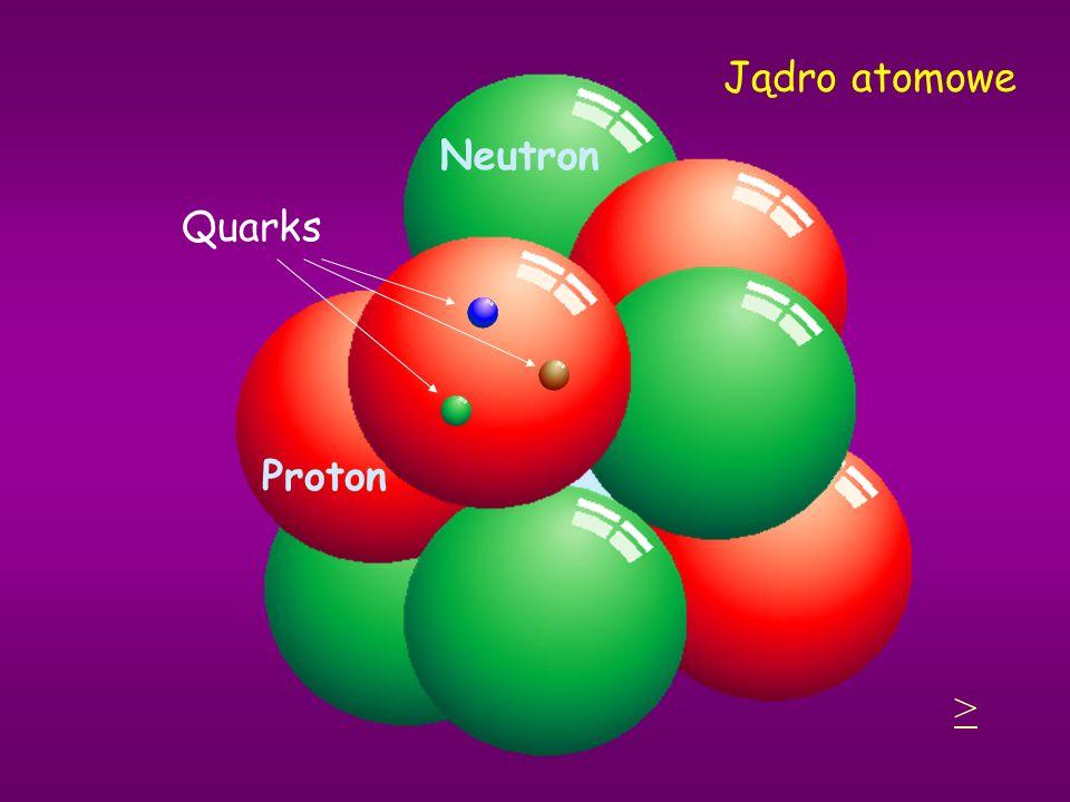 Jądro atomowe Neutron Quarks Proton >