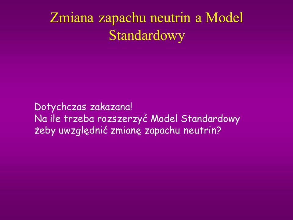 Zmiana zapachu neutrin a Model Standardowy