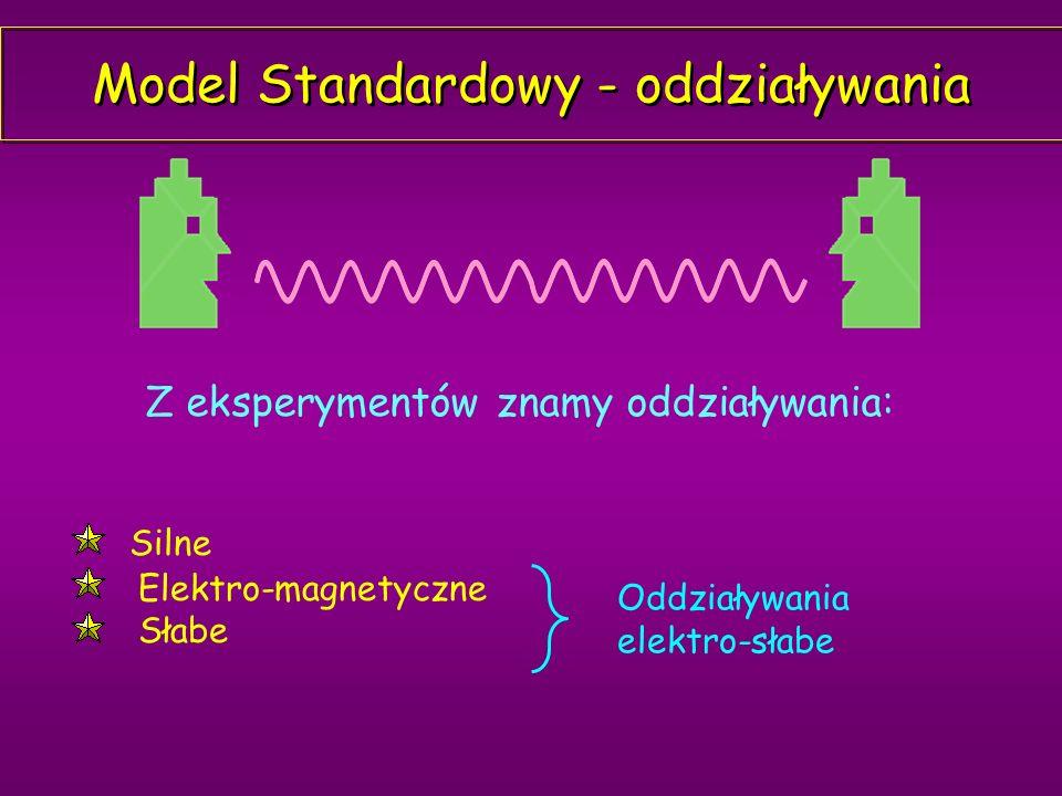 Model Standardowy - oddziaływania