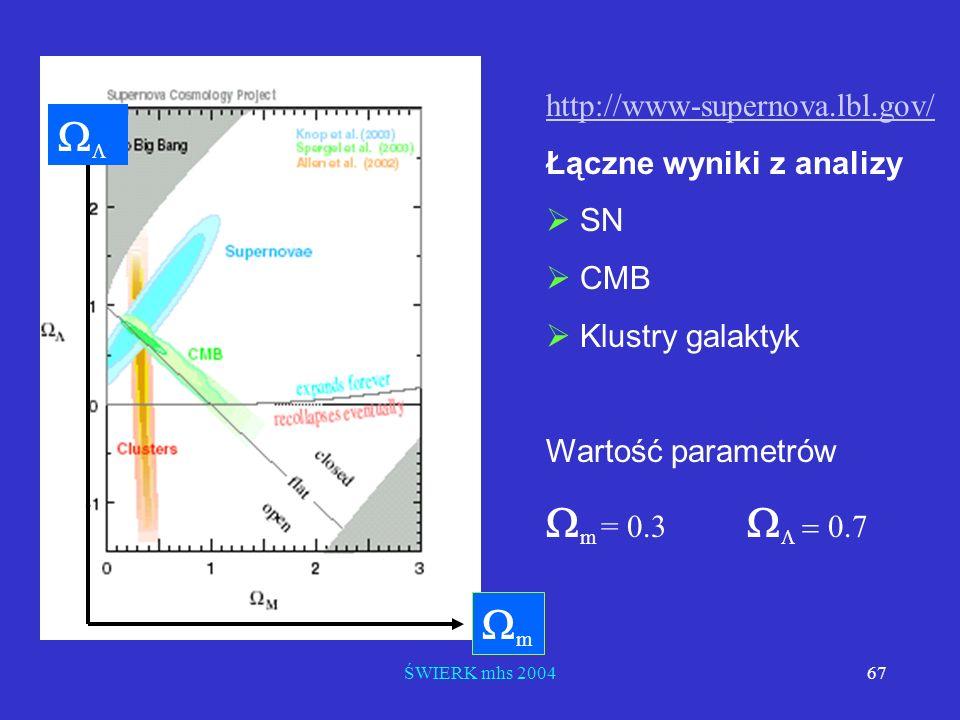 WL Wm = 0.3 WL = 0.7 Wm http://www-supernova.lbl.gov/