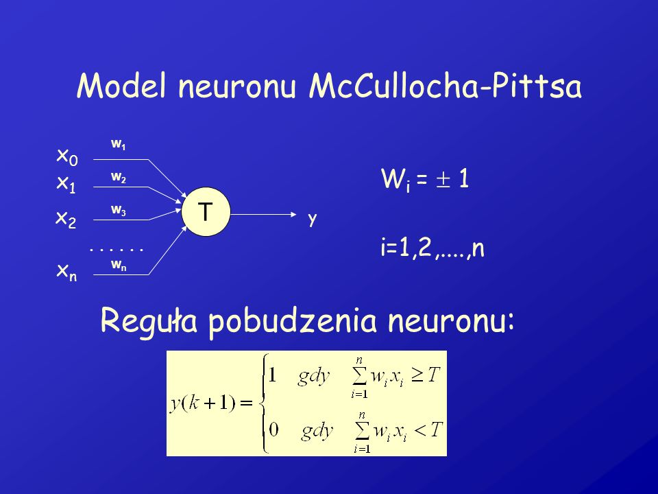 Model neuronu McCullocha-Pittsa