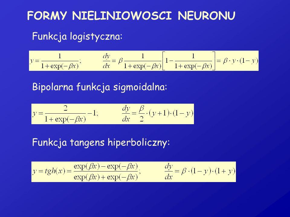 FORMY NIELINIOWOSCI NEURONU