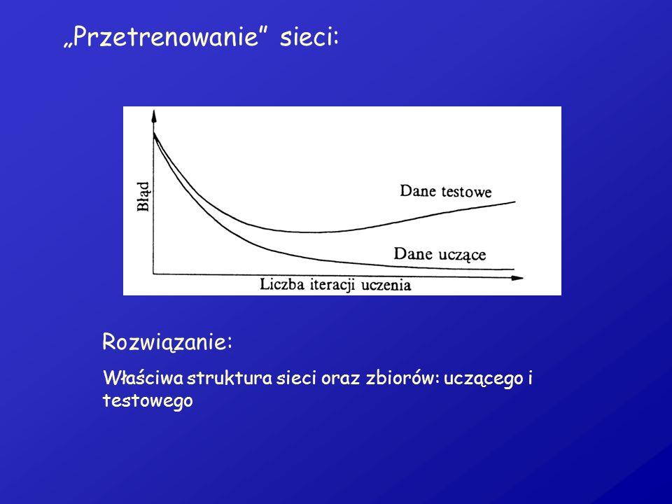 """""""Przetrenowanie sieci:"""