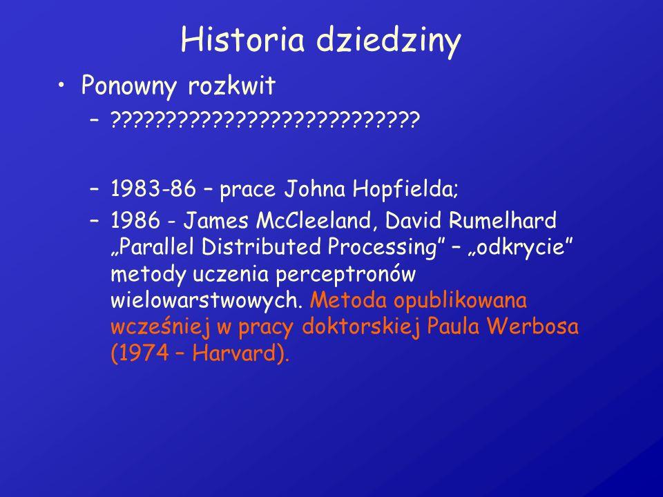 Historia dziedziny Ponowny rozkwit
