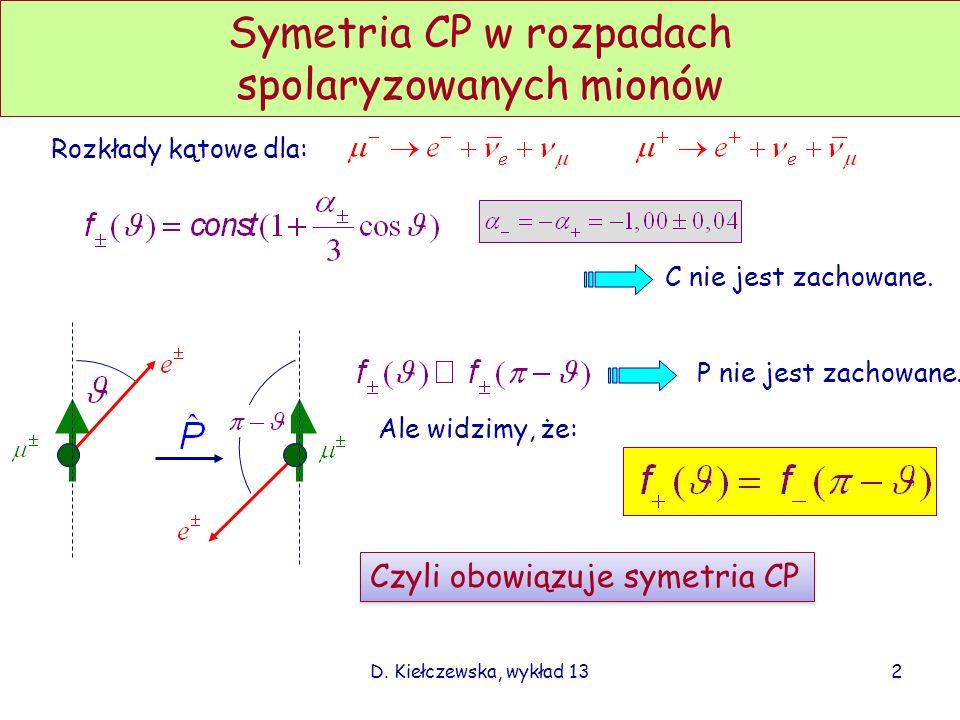 Symetria CP w rozpadach spolaryzowanych mionów