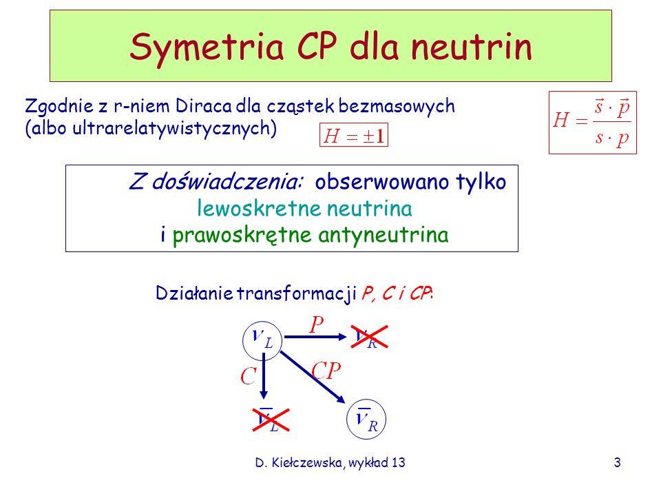 Symetria CP dla neutrin
