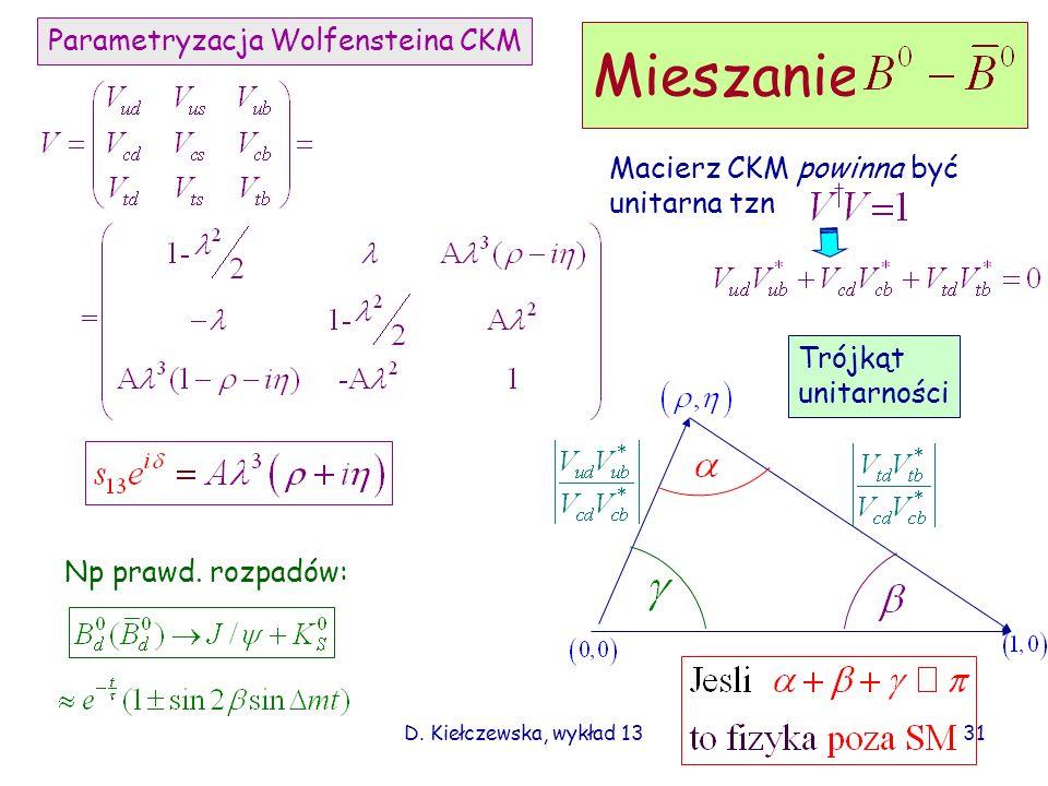 Mieszanie Parametryzacja Wolfensteina CKM Macierz CKM powinna być