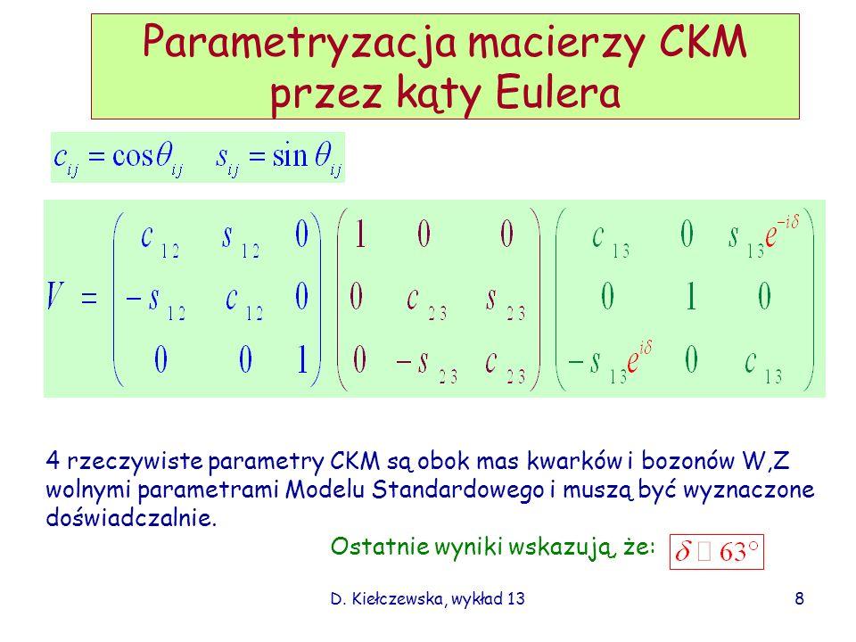 Parametryzacja macierzy CKM przez kąty Eulera