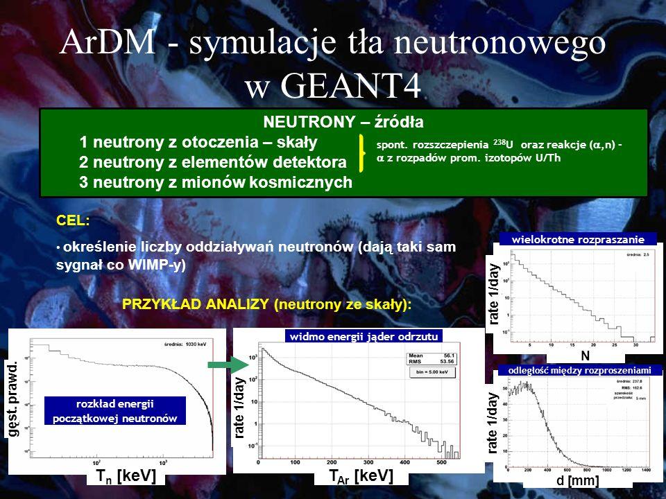 ArDM - symulacje tła neutronowego w GEANT4