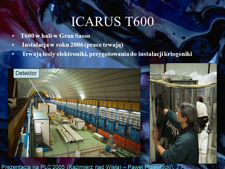 ICARUS T600 T600 w hali w Gran Sasso