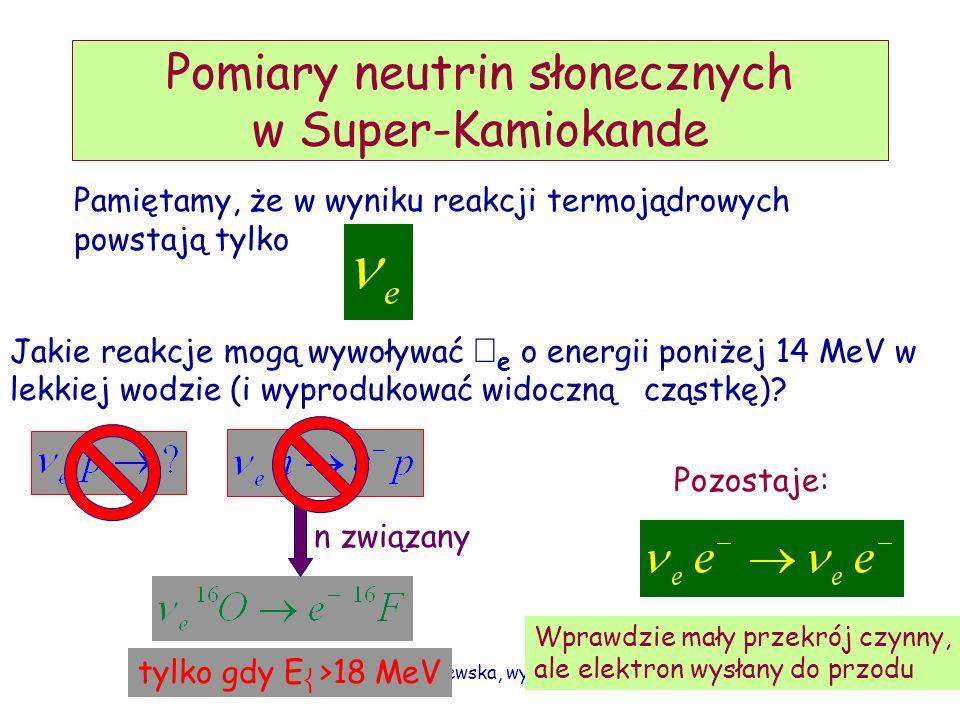 Pomiary neutrin słonecznych w Super-Kamiokande