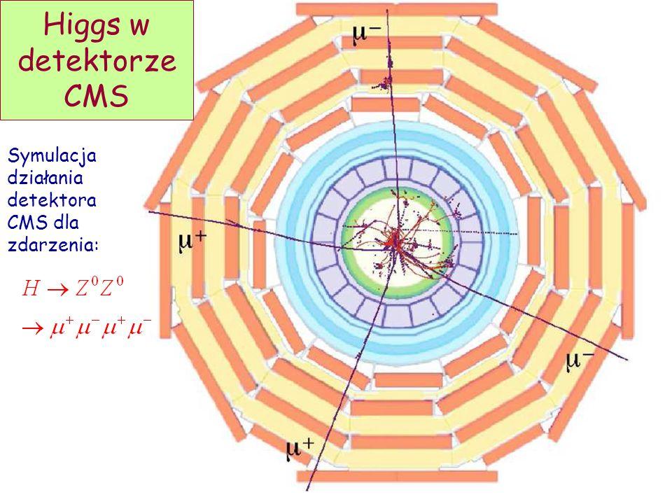 Higgs w detektorze CMS Symulacja działania detektora CMS dla zdarzenia: D. Kiełczewska, wykład 9
