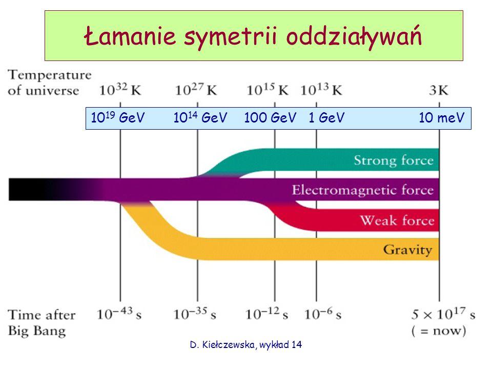 Łamanie symetrii oddziaływań